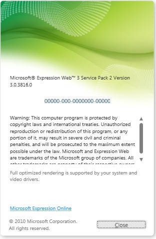 Expression Web 3.0 Service Pack 2
